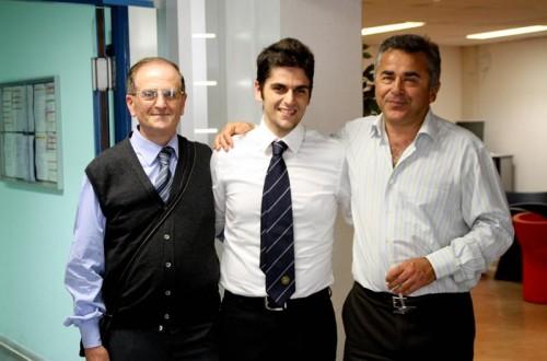 con papà Angelo e Refik